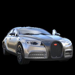 銀色スポーツカー