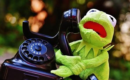 カエルと電話